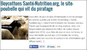 santé-nutrition.org mensonge vitamine C boycott site piratage alimentation cancers cure magique titre choquant et statistiques