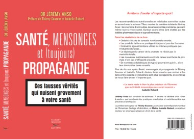 sante mensonge et toujours propagande jeremy anso nutrition cancer depistage glucide pnns